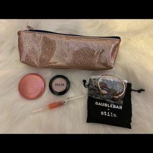 stila make-up grab bag + bauble bar bracelet